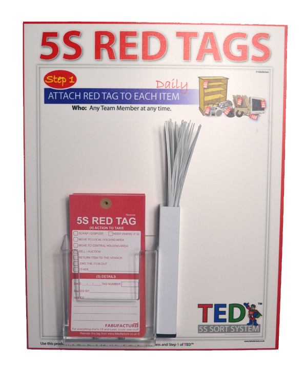 5S Red Tag Dispenser Holder