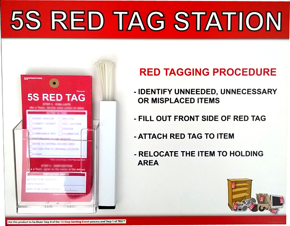 5S Red Tag Station
