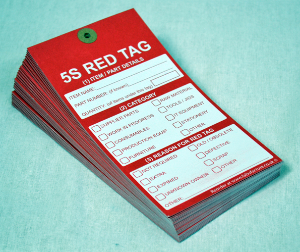 5S Red Tags - Fabufacture UK