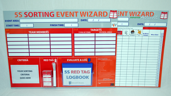 5S Sorting Event Wizard Event Boards_SKU-9508