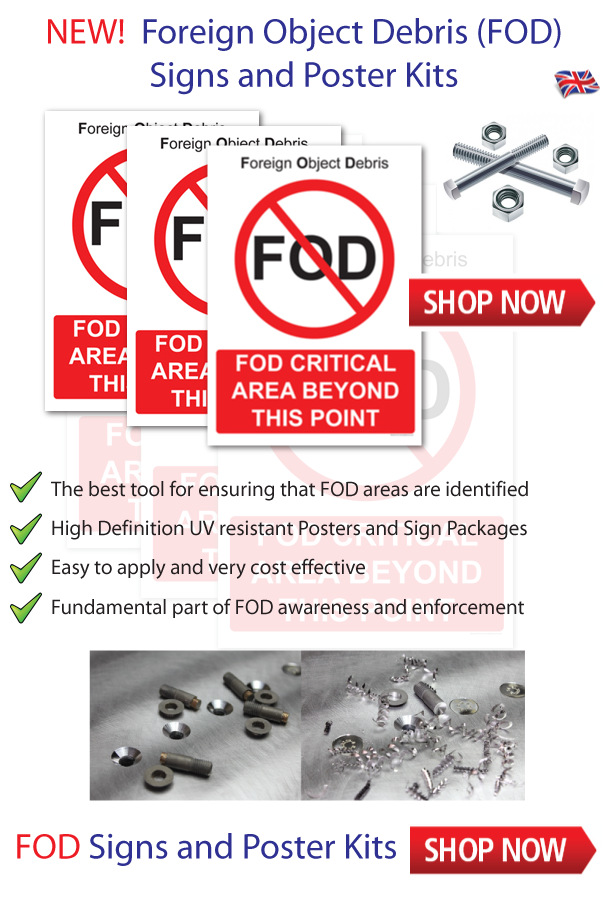 FOD Awareness Prevention Posters Signs UK