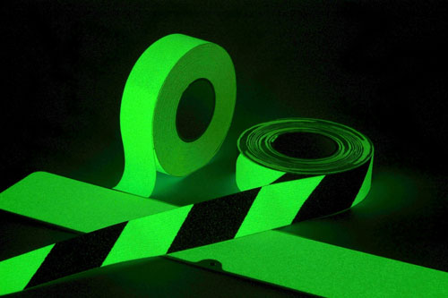 Glow in the Dark Hazard Tape _SKU-8261