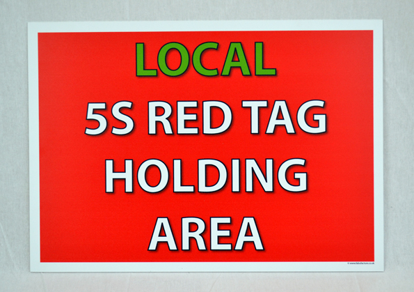 5S Red Tag Holding Area Signs _SKU-9701