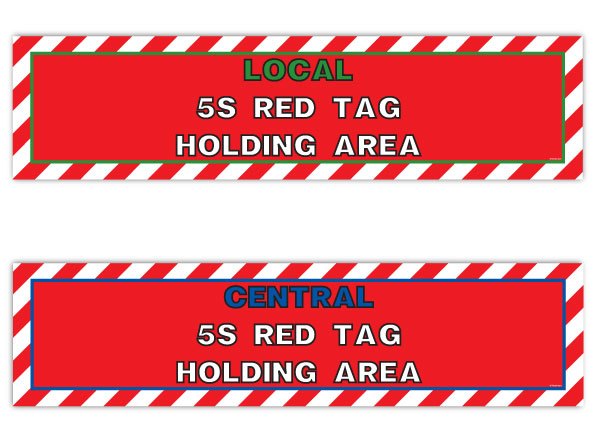 Red Tag Holding Area Signs & Banners