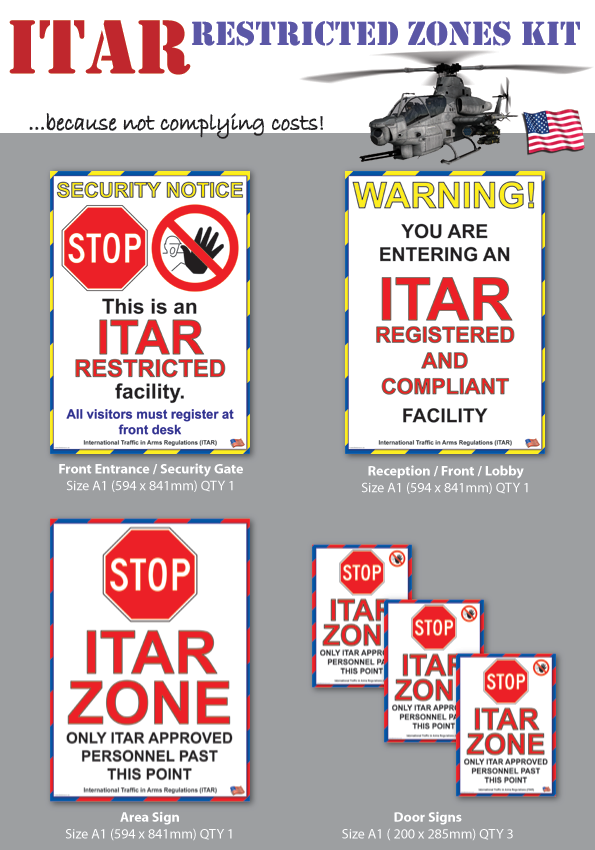 ITAR Signs and Posters and Training