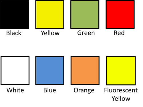 Warehouse Floor Tape Colours