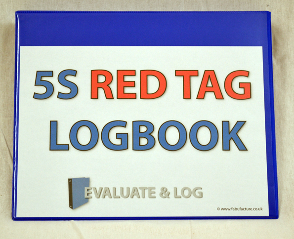 5S Red Tag Log Book