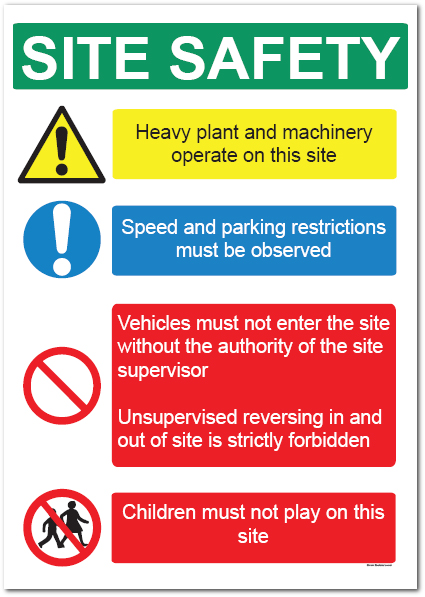 Safety Signs in Construction - Heavy Plant _SKU-6862