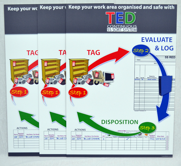 TED™ Awareness Kit - SILVER (Continuous 5S Sort System)_SKU-9388
