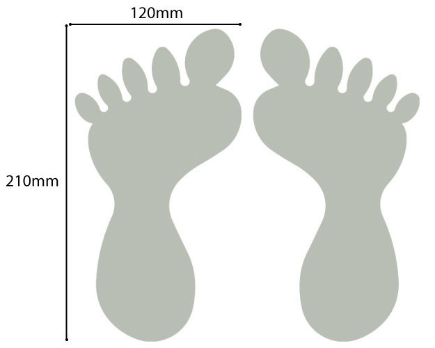 feet floor stickers