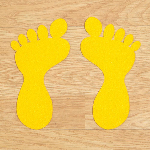 Feet floor stickers for warehouses factories and retail for Floor stickers