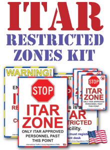 ITAR International Traffic in Arms Regulations Compliance - Area Sign Kit_SKU-10306