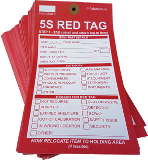 5S Red Tags (Qty 100)_SKU-6919