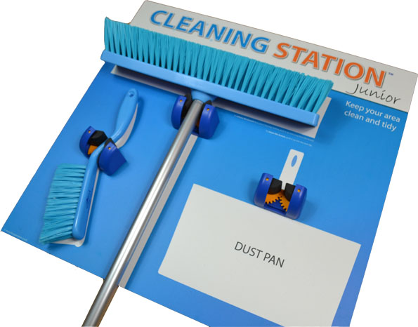 5S Cleaning Station Shadow Board - Junior 3 Edition (All Tools Included) _SKU-11785