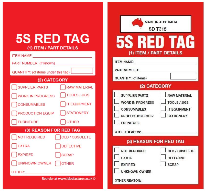 Industroquip Infringement Side 1 - Copyright 5S Red Tag