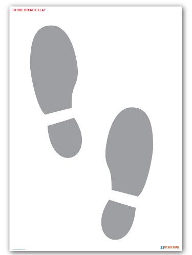 Shoe Print Stencil