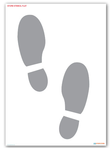 Foot Steps Floor Marking Paint Stencil_SKU-11252