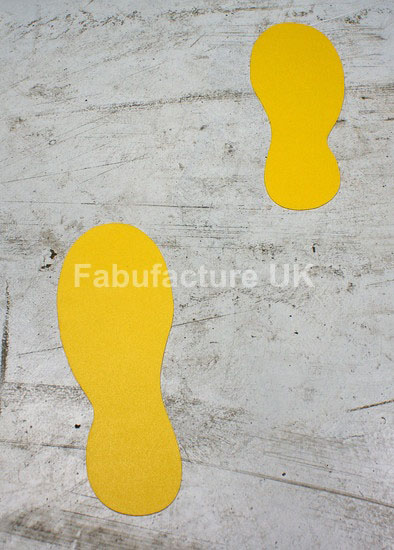 Floor Marking Floor Sticker Footprints (Qty 20)_SKU-11679
