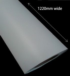 1220mm (4ft) WIDE MATT BLACK or WHITE SELF ADHESIVE VINYL_SKU-11765